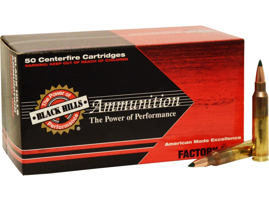 Black Hills Ammunition 5.56x45mm NATO 77 Grain Sierra Tipped MatchKing (TMK)  Box of 50