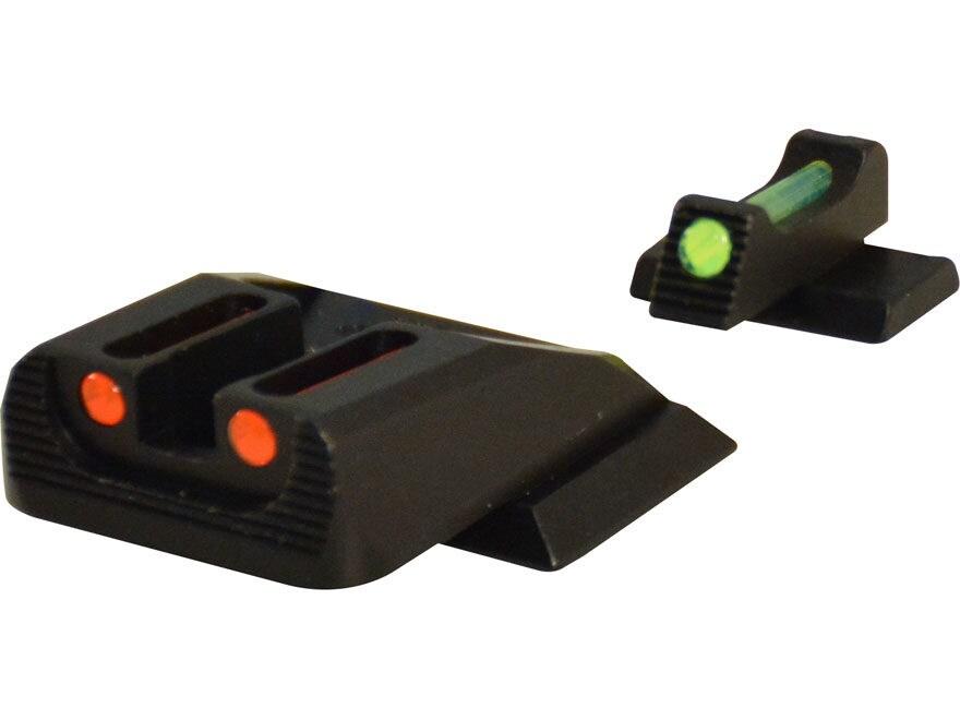 Williams Fire Sight Set S&W M&P Aluminum Black Fiber Optic Green Front, Red Rear