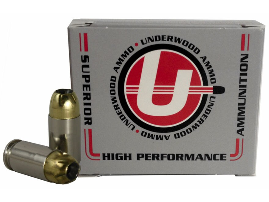 Underwood Ammunition 380 ACP +P 102 Grain Brass Jacketed Hollow Point Box of 20