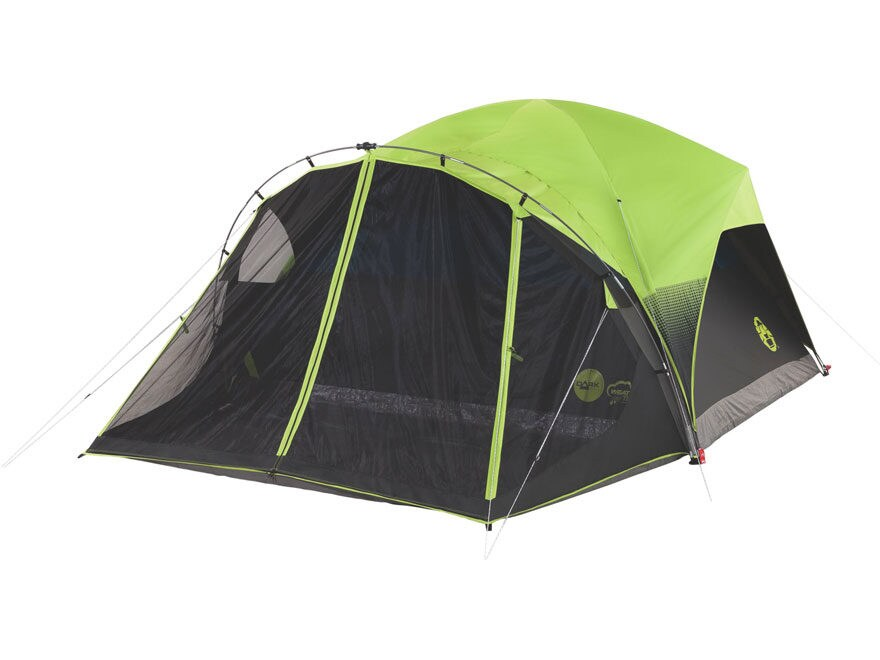 """Coleman Carlsbad 6 Man Dome Tent 68"""" x 120"""" x 108"""" Polyester Black and Green"""