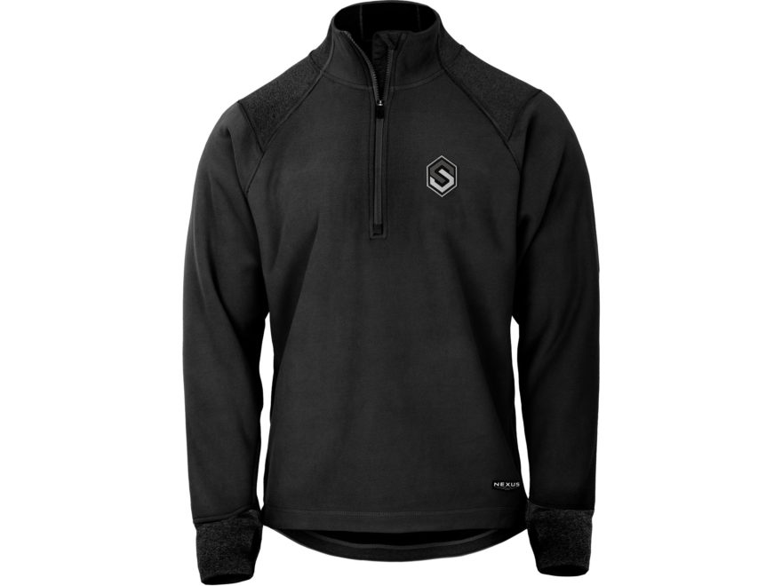 Scent-Lok Men's Nexus Arctic Weight Base Layer Shirt Long Sleeve Polyester Black Heather