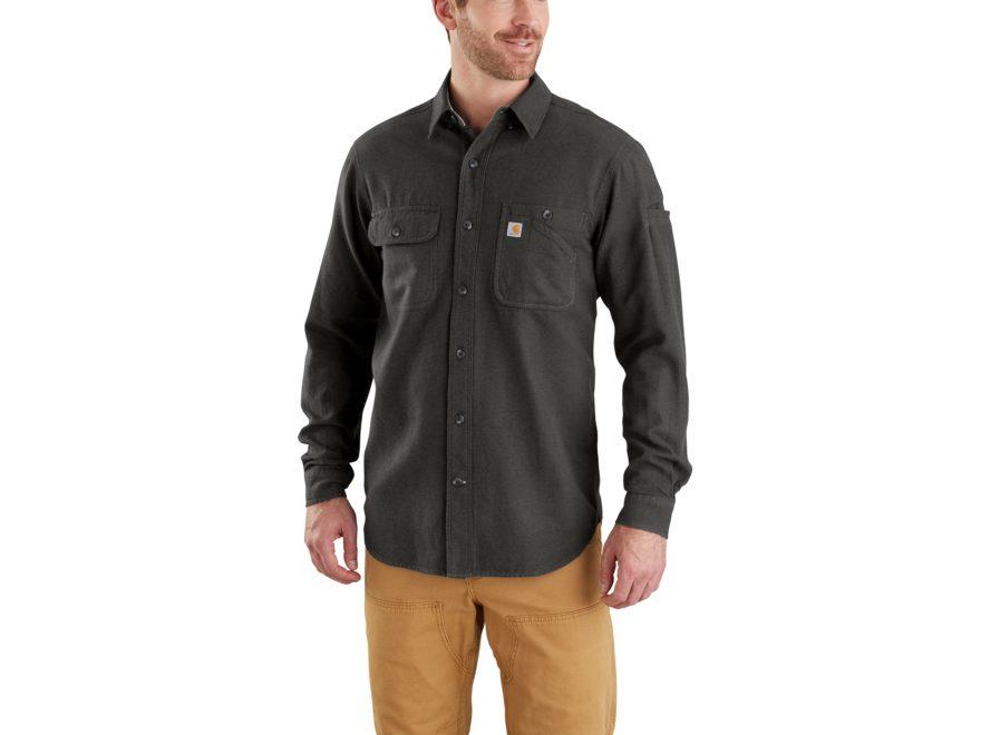Carhartt Men's Beartooth Solid Button-Up Shirt Long Sleeve Cotton