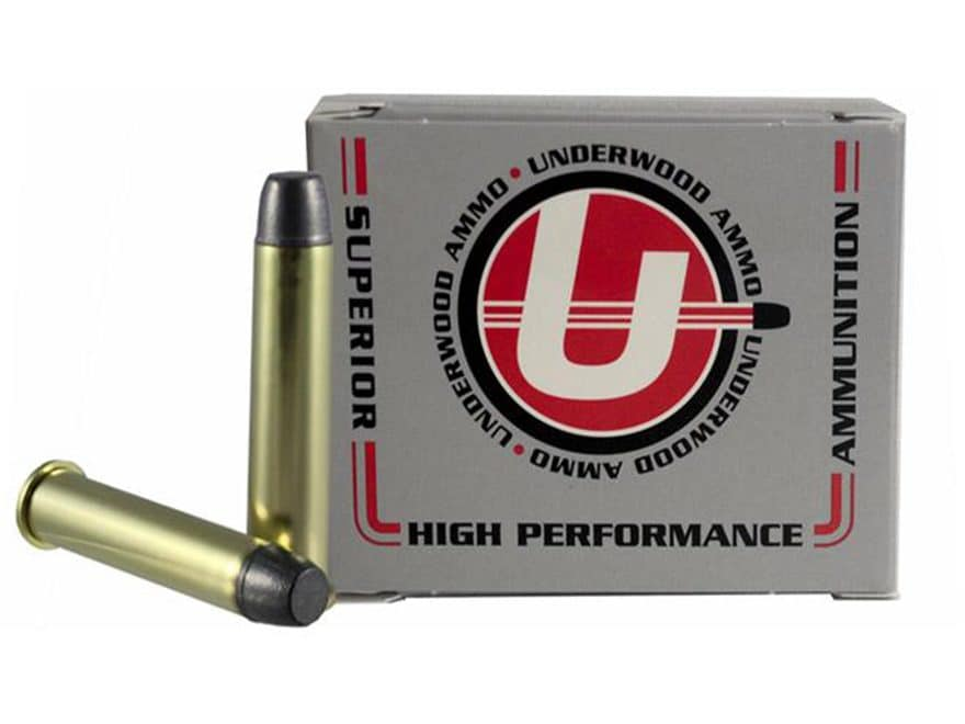 Underwood Ammunition 45-70 Government 430 Grain Hard Cast Lead Long Flat Nose Gas Check...