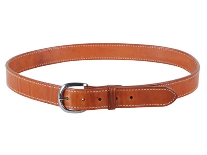 "El Paso Saddlery #20 Dress Belt 1-1/2"" Brass Buckle Leather Russet Brown"