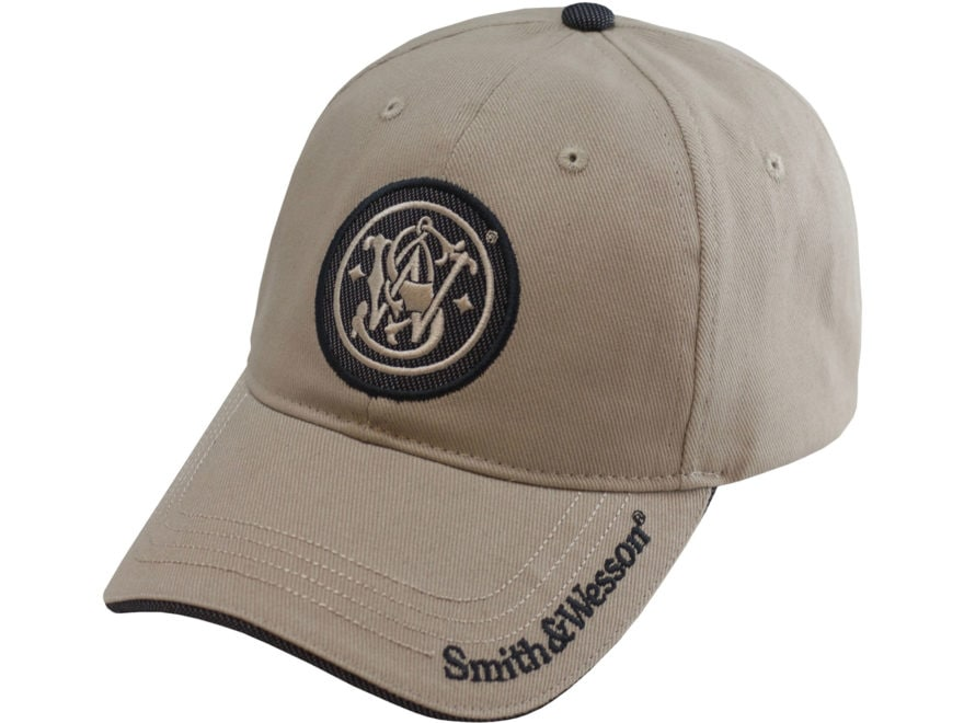 Smith & Wesson Circle Logo Cap Cotton Khaki One Size Fits Most