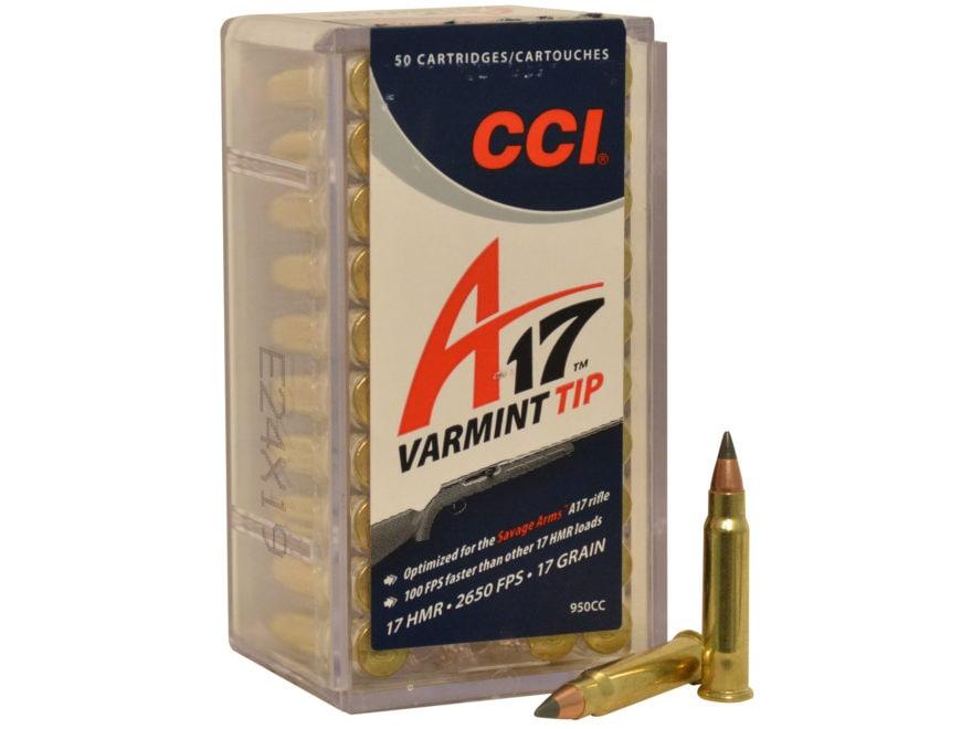 CCI A17 Ammunition 17 Hornady Magnum Rimfire (HMR) 17 Grain Tipped Varmint