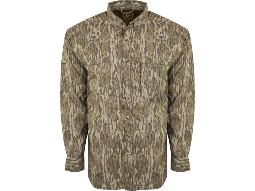 Drake Non-Typical Men's Lightweight Scent Control Camo Tech Mesh Back Flyweight Button-...