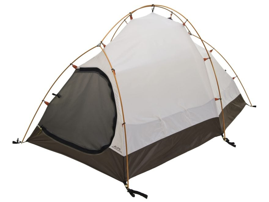 "ALPS Mountaineering Tasmanian 2 4-Season Tent 5'2"" x 7'8"" x 3'10"" Polyester Orange and ..."