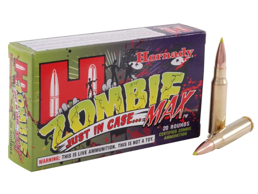 Hornady Zombie Max Ammunition 308 Winchester 168 Grain Z-Max Box of 20