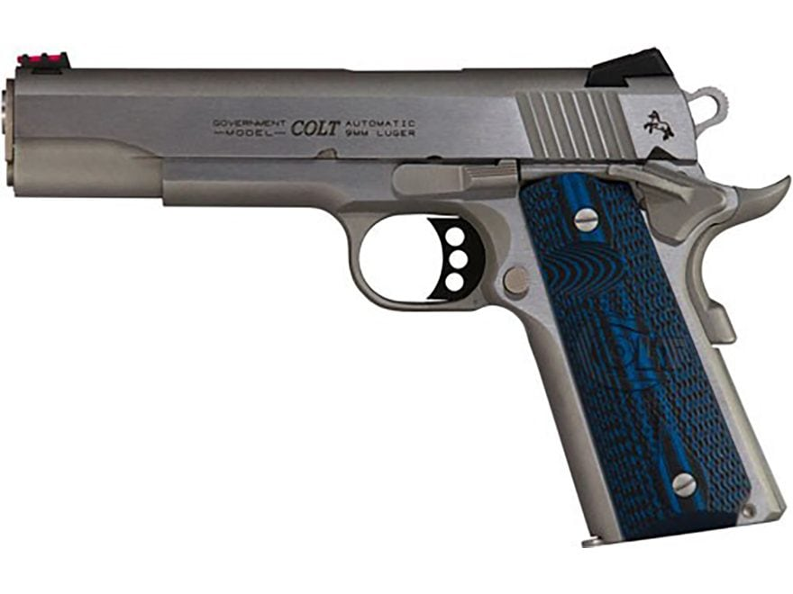 "Colt Government Competition Pistol 45 ACP 5"" Barrel 8-Shot Stainless, G10"