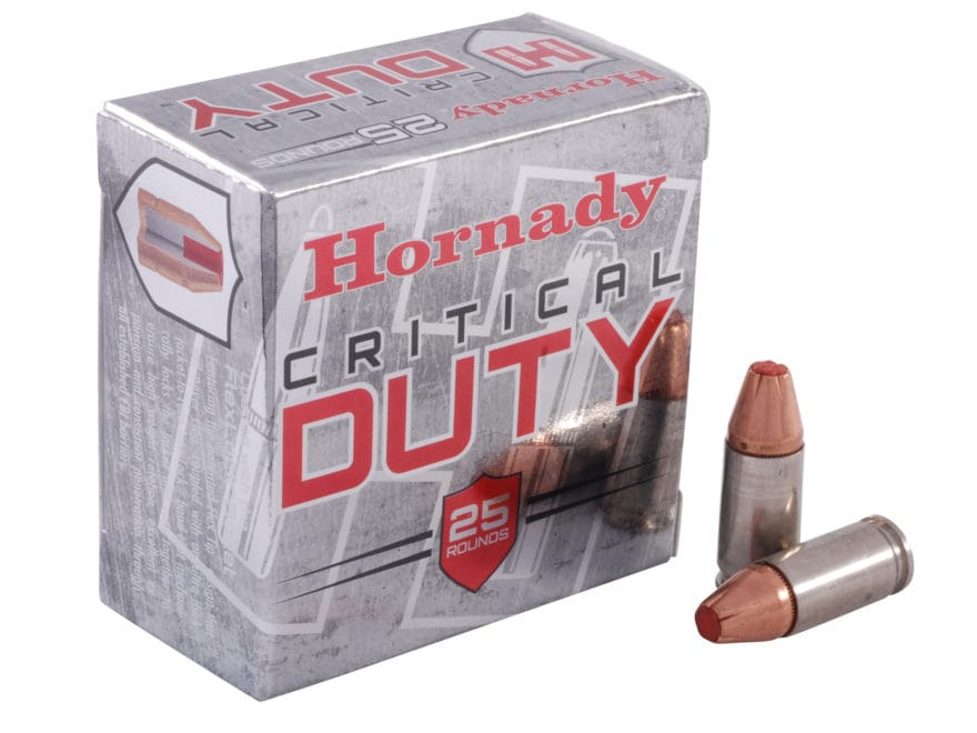 Hornady Critical Duty Ammunition 9mm Luger +P 124 Grain FlexLock Box of 25