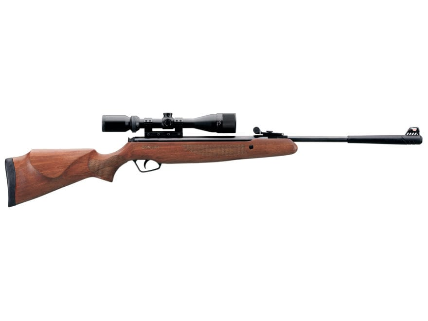 Stoeger X20 Air Rifle Pellet Hardwood Stock Black Barrel 3-9x40mm Scope
