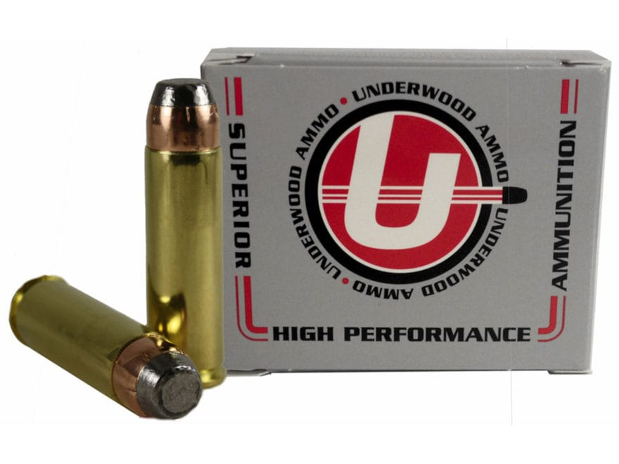 Underwood Ammunition 500 S&W Magnum 500 Grain Hornady XTP Flat Nose Box of 20