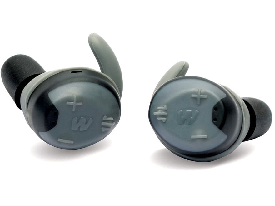 Walker's Silencer Rechargeable Electronic Ear Plugs (NRR 23dB) Gray Pair