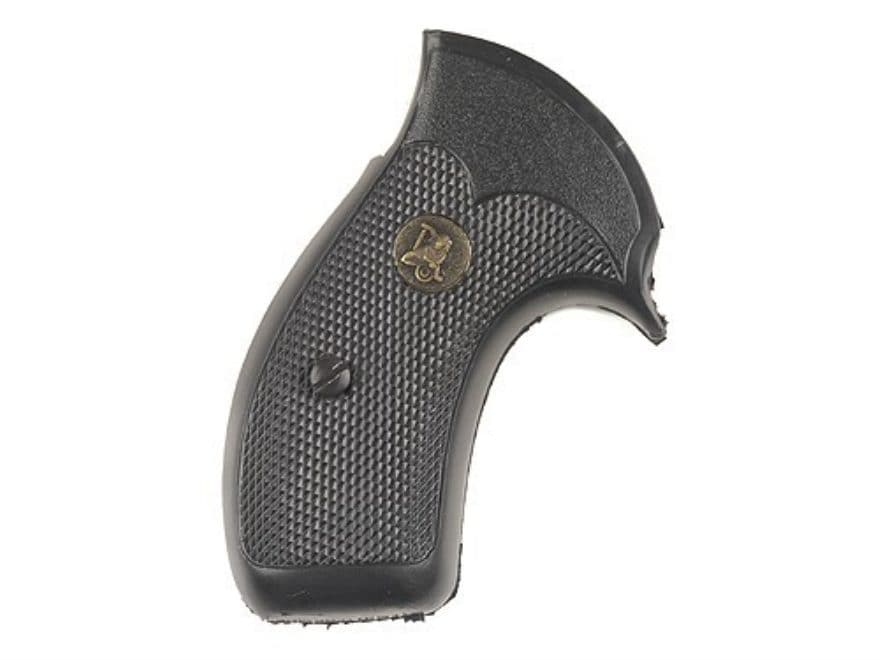 Pachmayr Compac Professional Grips S&W K, L-Frame Round Butt Rubber Black