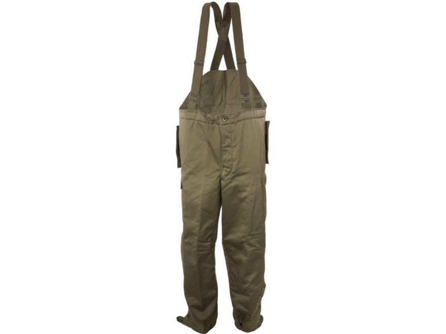 Military Surplus Austrian Pants with Suspenders Olive Drab