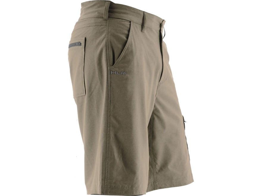 """Huk Men's Next Level Shorts Cotton Polyester and Spandex 10.5"""" Inseam"""