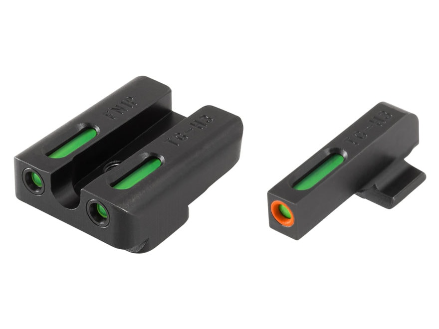 TRUGLO TFX Pro Sight Set FNX 9 Tritium / Fiber Optic Green with Orange Front Dot Outline