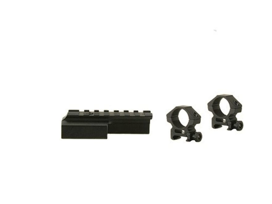 """Leapers UTG Deluxe Weaver-Style Mount with 1"""" Rings M1 Carbine Matte"""