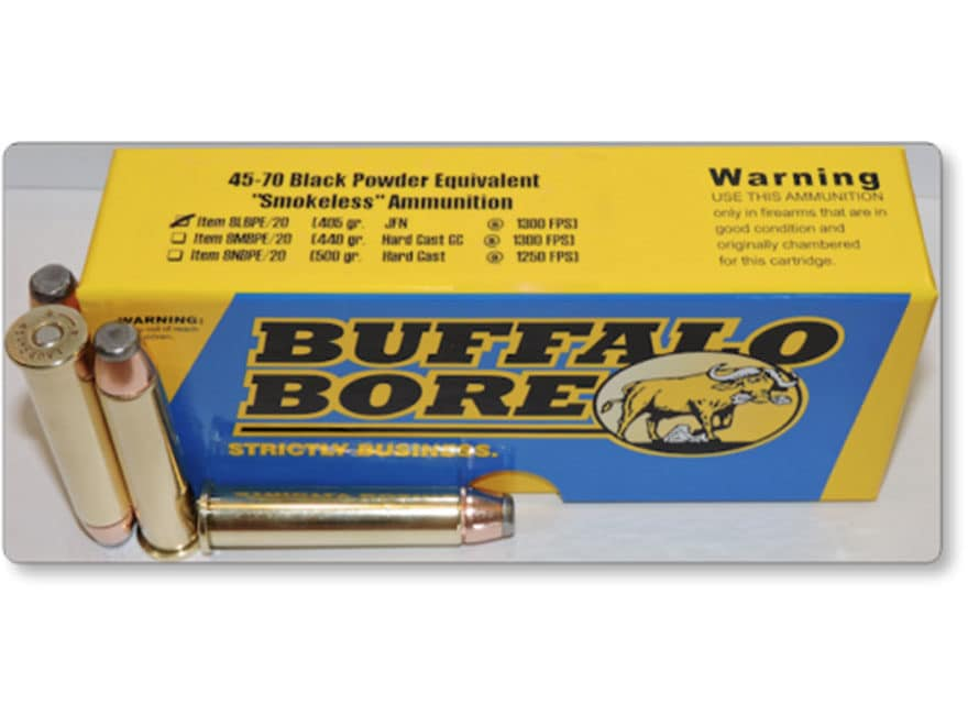 Buffalo Bore Smokeless Blackpowder Equivalent Ammunition 45-70 Government 405 Grain Jac...