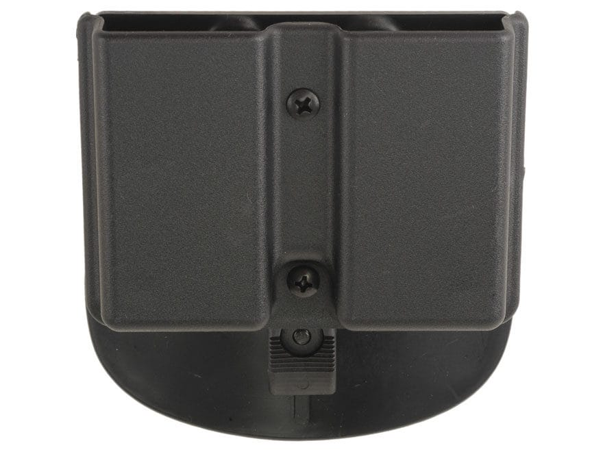 Uncle Mike's Double Magazine Belt Pouch for Single Stack Magazine Kydex Black