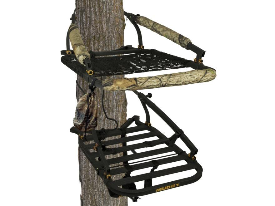 Muddy Outdoors Stalker Climbing Treestand Aluminum Black