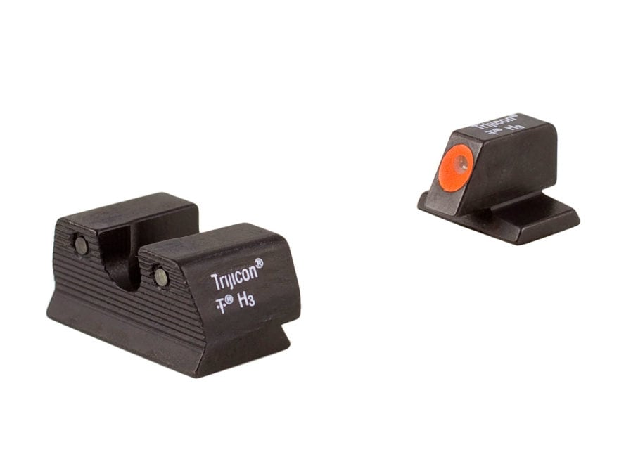 Trijicon HD Night Sight Set FN, FNX, FNS 45 ACP Steel Matte 3-Dot Tritium Green with Fr...