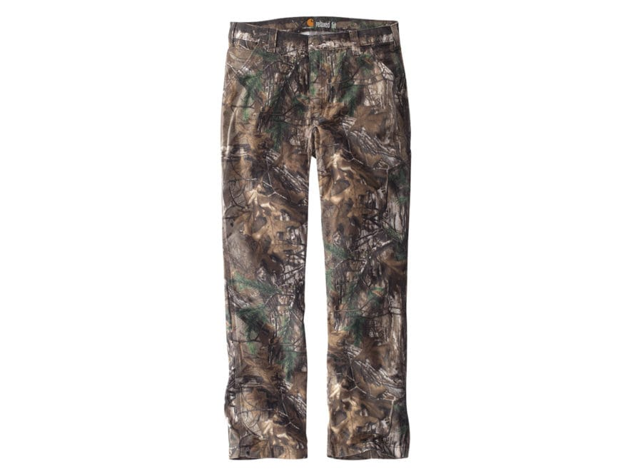 Carhartt Men's Rugged Flex Rigby Camo Dungaree Pants Cotton/Spandex