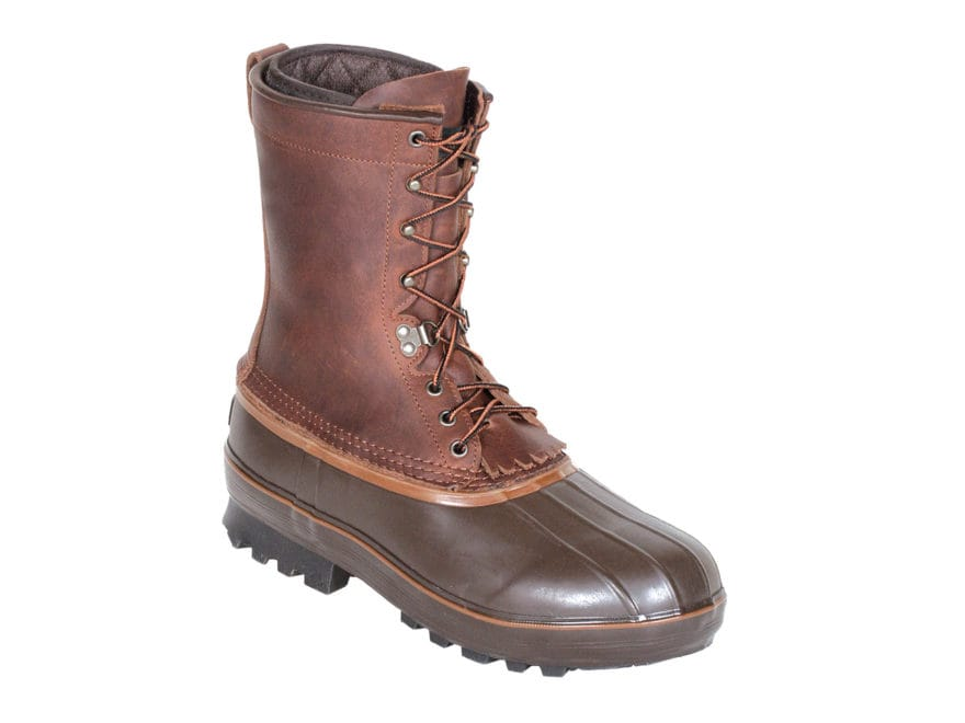 "Kenetrek Northern 10"" Pac Boots Leather and Rubber Brown Men's"
