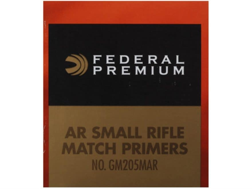 Federal Premium Gold Medal AR Match Grade Small Rifle Primers #GM205MAR