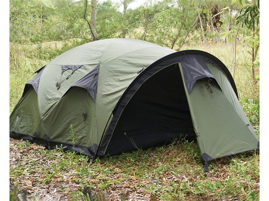 "Snugpak The Cave 4 Person Dome Tent 134"" x 89"" x 49"" Polyester/Nylon Olive"
