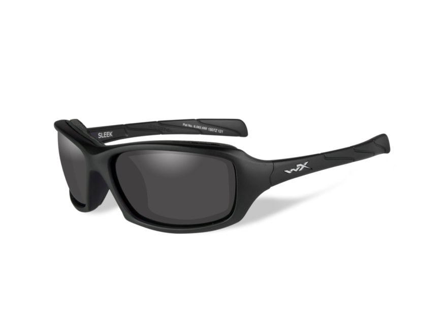 Wiley X WX Sleek Sunglasses Matte Black Frame Smoke Gray Lens