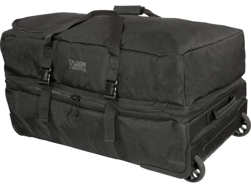 MidwayUSA Heavy Duty Rolling Duffel Large Black