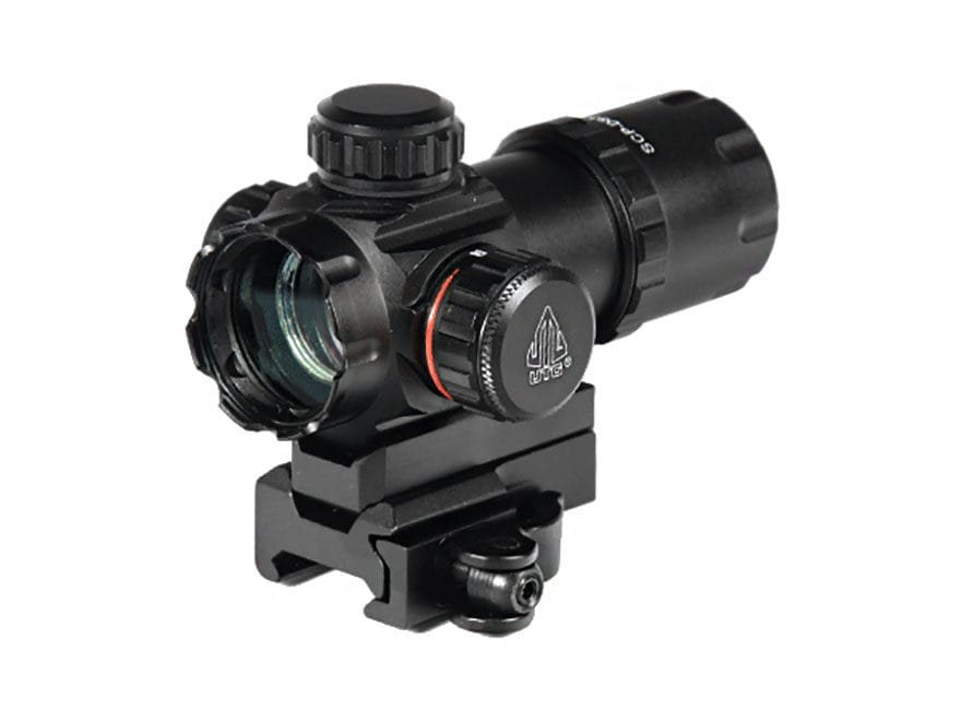 Leapers UTG Red Dot Sight 30mm 1x Red and Green Dot with Riser and Quick-Detach Weaver/...