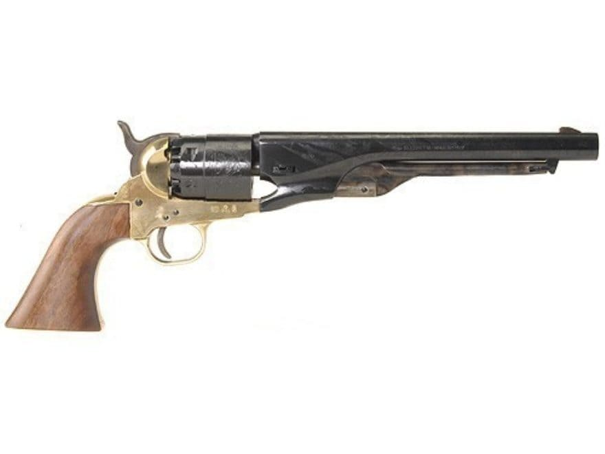 "Pietta 1860 Army Black Powder Revolver 44 Caliber 8"" Barrel Brass Frame Blue"