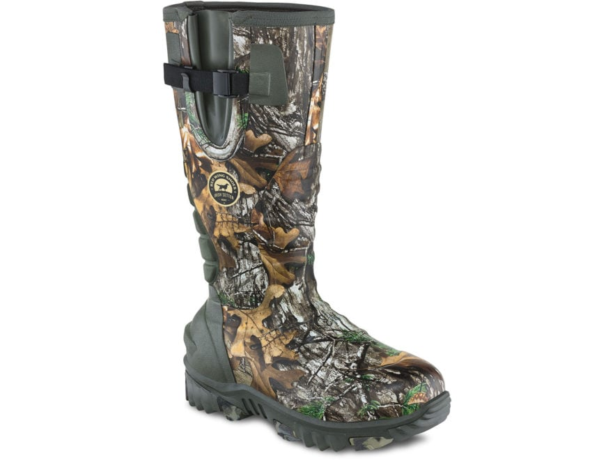 "Irish Setter Rutmaster 2.0 15"" Waterpoof 1200 Gram Insulated Hunting Boots Rubber Clad ..."