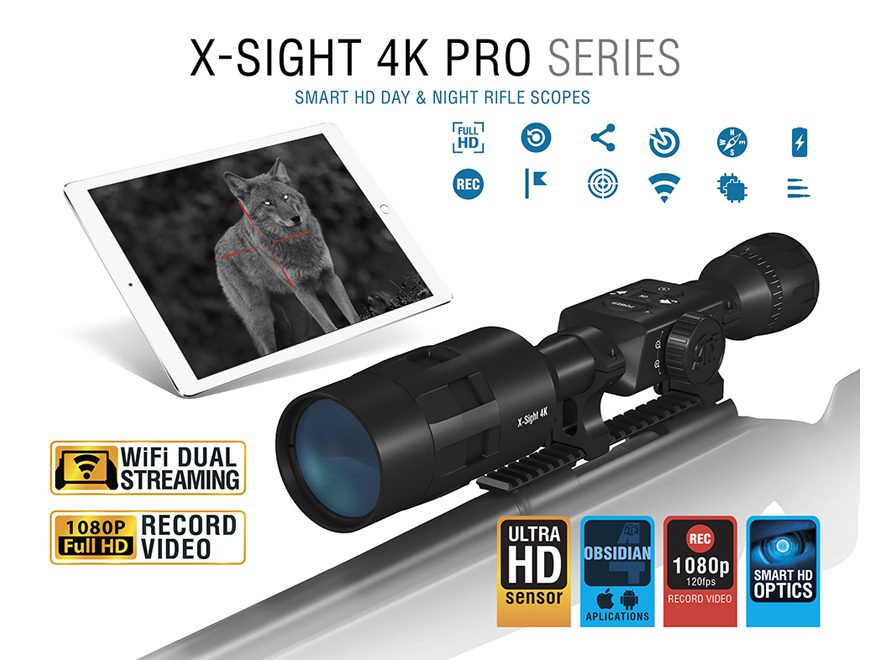 ATN X-Sight 4K Pro Series Smart HD Digital Day/Night Rifle Scope 3-14x with HD Video Re...