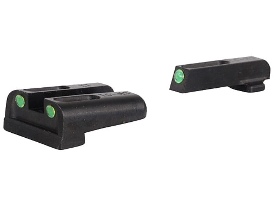 TRUGLO TFO Sight Set Springfield XD, XDM Steel Tritium / Fiber Optic