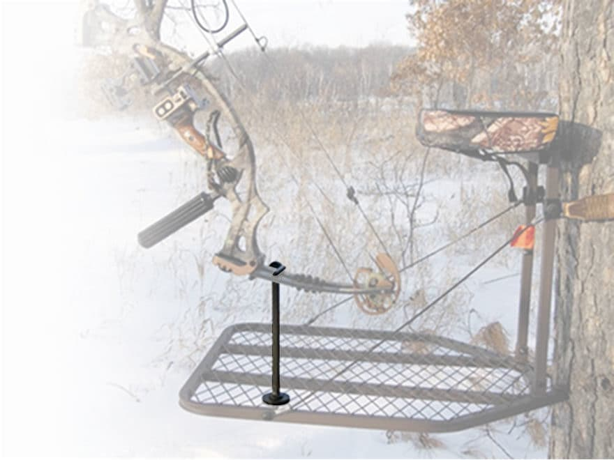HME Archer's Treestand Platform Post Bow Holder Steel Brown