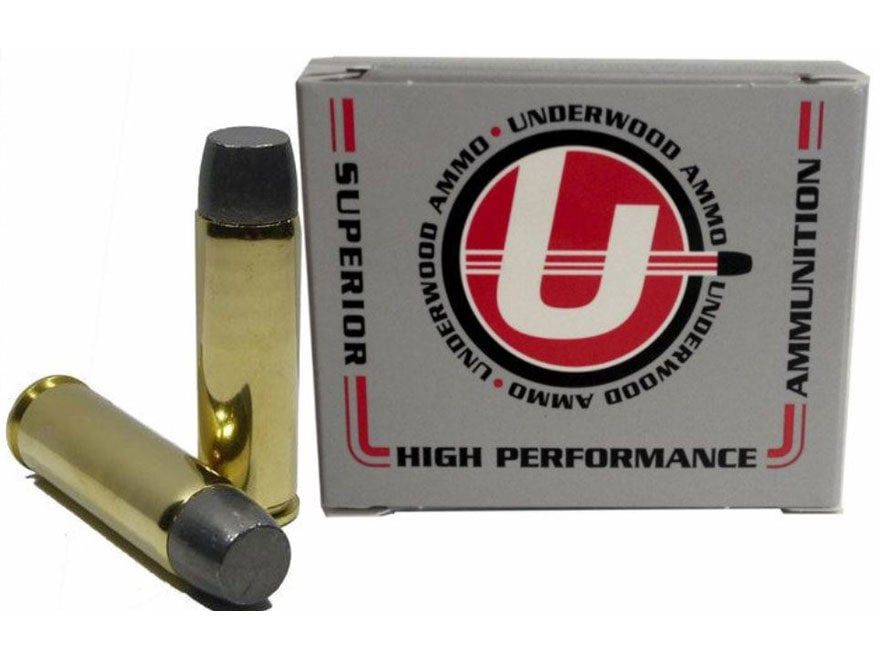 Underwood Ammunition 500 S&W Magnum 440 Grain Lead Flat Nose Gas Check Box of 20