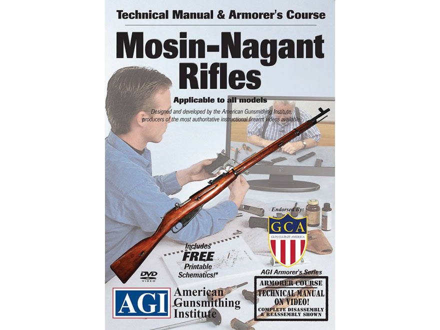 "American Gunsmithing Institute (AGI) Technical Manual & Armorer's Course Video ""Mosin-N..."