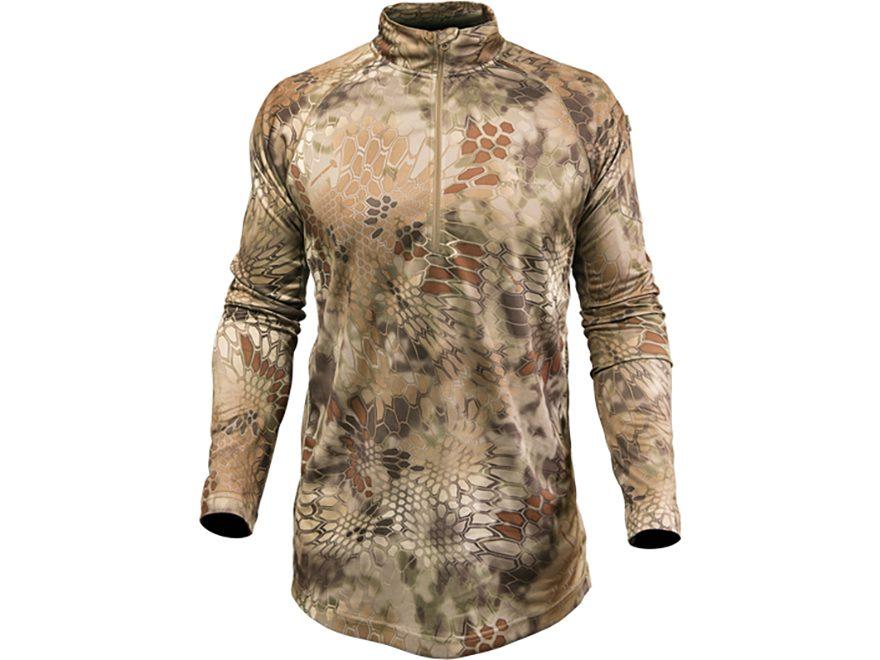 Kryptek Men's Hyperion 1/4 Zip Shirt Long Sleeve Polyester
