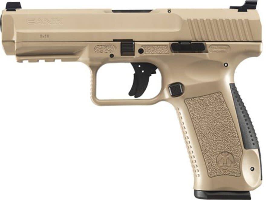 "Canik TP9SF Semi-Auto Pistol 9mm Luger 4.46"" Barrel 18-Round Magazine Polymer"