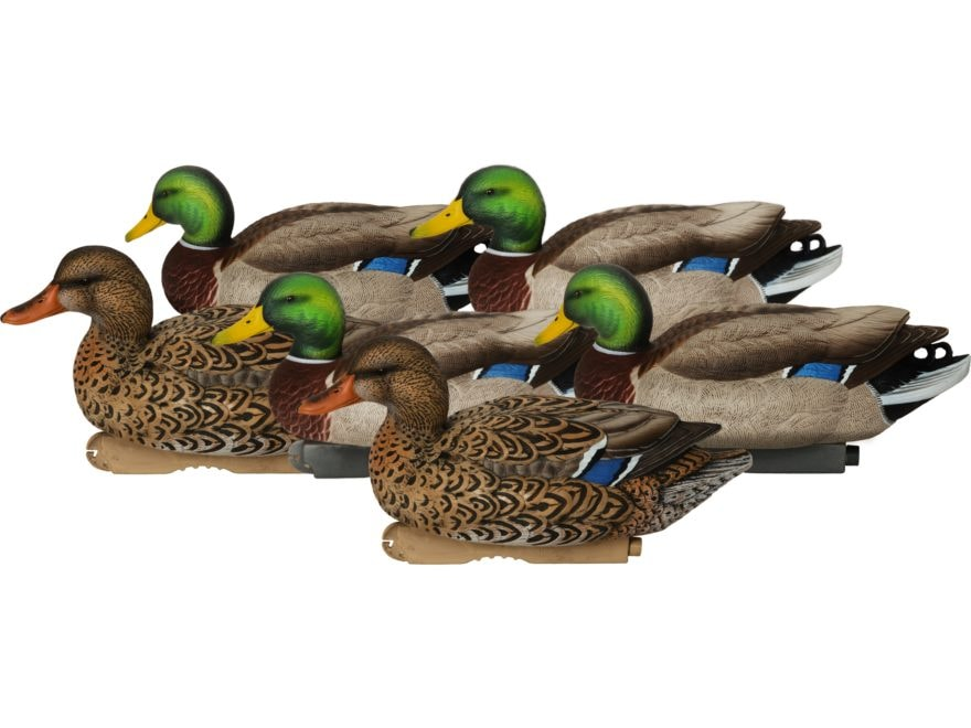 GHG XD Series Pro-Grade Active Mallard Duck Decoy Pack of 6