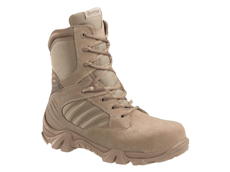"Bates GX-8 8"" Composite Safety Toe Side-Zip Tactical Boots Leather/Nylon Men's"