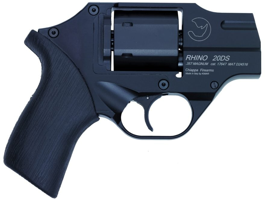 "Chiappa Rhino 200D DAO Revolver 357 Magnum 2"" Barrel 6-Round Black, Rubber with Holster"