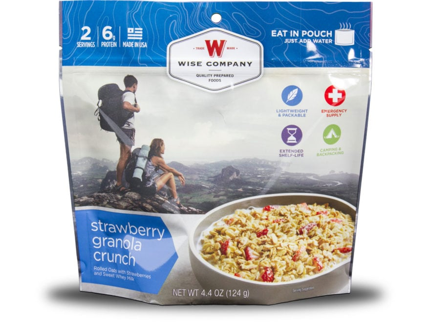 Wise Company Outdoor Strawberry Granola Crunch Freeze Dried Food Pack of 6
