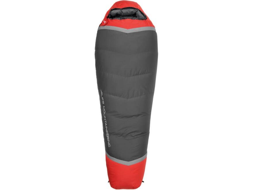 ALPS Mountaineering Zenith Mummy Sleeping Bag Polyester Flame Red/Coal