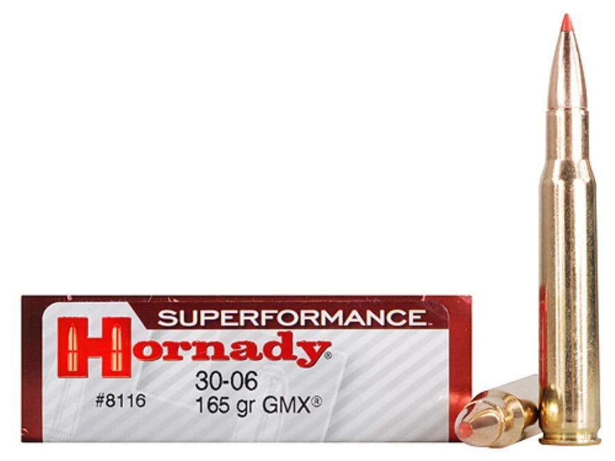 Hornady Superformance GMX Ammunition 30-06 Springfield 165 Grain GMX Boat Tail Lead-Fre...