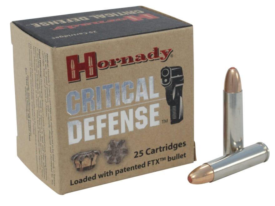 Hornady Critical Defense Ammunition 30 Carbine 110 Grain Flex Tip eXpanding Box of 25